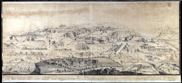 Moravian settlement scene