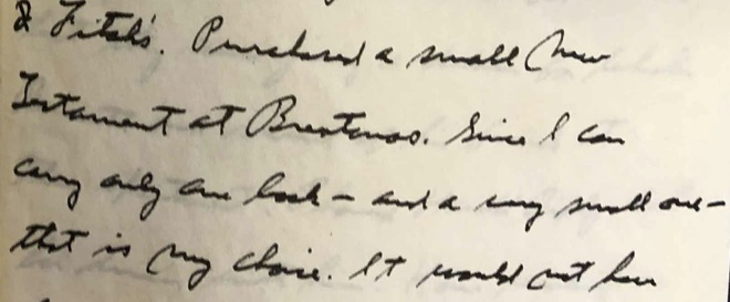 Lindbergh diary April 3, 1944 - New Testament